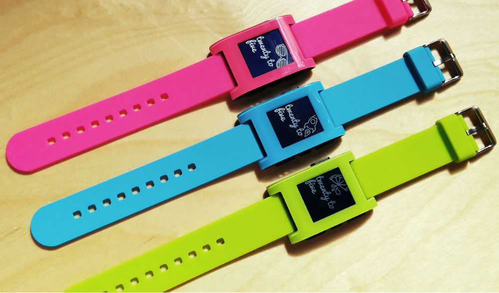 Pebble's Smartwatch Now Comes in Pink, Blue and Neon Green ...