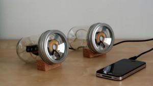 Mason jar speakers